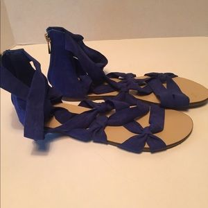 New JustFab Straps Flat Sandals size 10